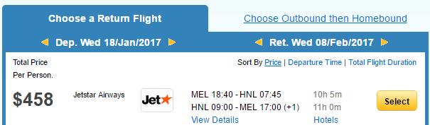 MEL-HNL